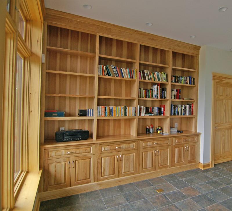 Custom Walk In Closet Bookshelves Lunenburg