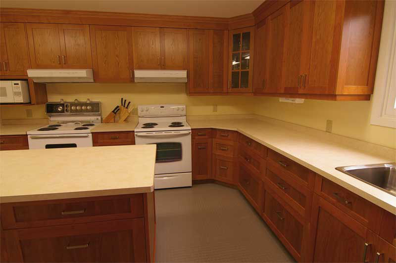 Commercial Kitchen Cabinetry Cherry Wood Lots Of Work Space Storage