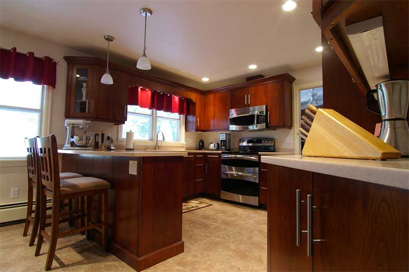 CLC kitchen cabinetry: cherry wood, contemporary design makes for ...