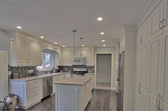 Custom White Kitchen off-white kitchen cabinets - new kitchen delivers more space