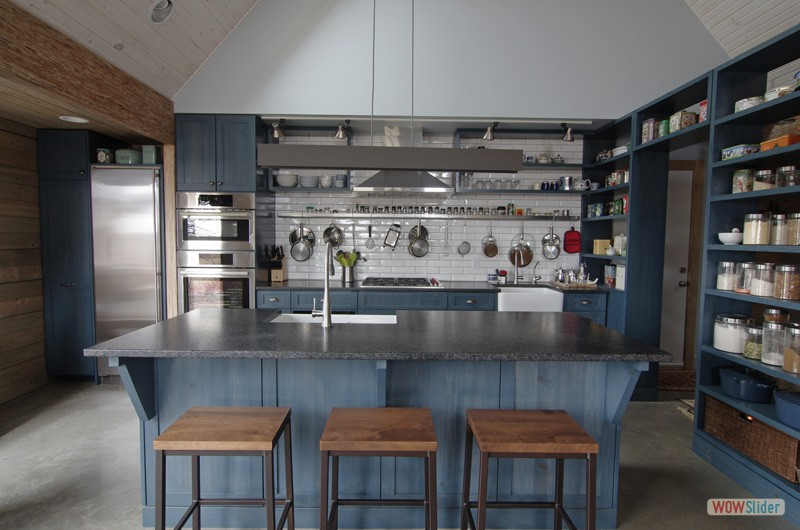 1 Blue And Steel Kitchen